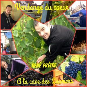 Dr. René Prêtre aux vendanges à La Cave des Lauriers